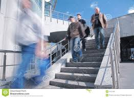 Go Down Stairs by People Go Down On Concrete Ladder Royalty Free Stock Image Image