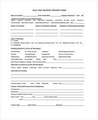 sample incident report form