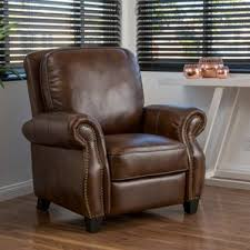 real leather recliner chair wayfair