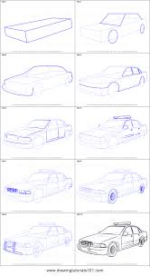 cartoon car drawing how to draw a police car printable step by step drawing sheet