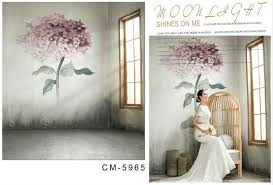 vinyl backdrops 2018 5x7ft moonlight shine flowers for wedding photos
