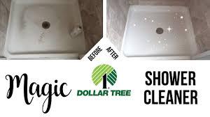 dollar tree hacks diy magic shower cleaner dollar tree cleaning hack youtube