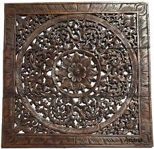 floral delights decorative mango wood picture photo home wooden asian oriental wall sculptures ebay