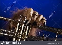 halloween background music musical instruments halloween trumpet monster hand stock