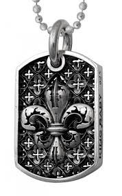 baby dog tags king baby fleur de lis relic dog boudi uk