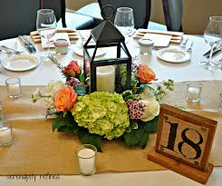 hydrangea and rose wedding centerpieces peach green hydrangea rose