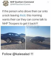 The Rock In Car Meme - nhp southern command if the person who drove their car onto a rock