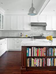 backsplash ideas for kitchen bevel stone backsplash tile and white