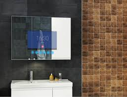 amazon com anti fog smart bathroom mirror with 13 3inch lcd