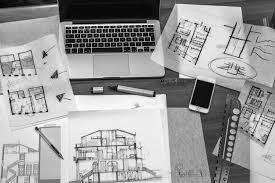 bureau architecte e image libre architecte travail bureau dessins plan directeur