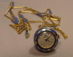 necklace watch vintage images Bucherer enamel silver gilt necklace pendant watch for sale jpg
