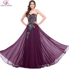 purple wedding dress aliexpress buy sweetheart peacock navy blue purple black