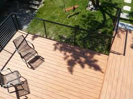 timbertech railing deck contemporary with cable rail cable railing