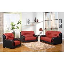 Real Leather Sofa Sets by Madison Genuine Leather Sofa Set Free Shipping Today Overstock