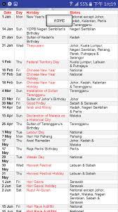 Kalender 2018 Hari Raya Puasa Malaysia Calendar 2018 2019 Hd Android Apps On Play