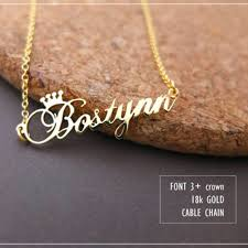 custom personalized jewelry custom crown name necklace personalized jewelry silver gold