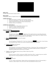 Sample Computer Technology Resume Computer Science Writing Resume Scientific Writer Writing A Cv For