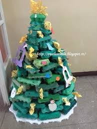 christmas tree from egg cartons i made it at our as a