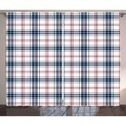 Navy Blue Plaid Curtains Plaid Curtains