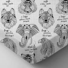 coloriage tigre totem