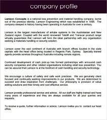 simple company profile sample templatezet
