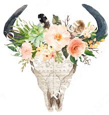 bull skull with floral creative design supply l l c