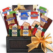 ghirardelli gift baskets ghirardelli gift trunk of excellence gourmet gift baskets for
