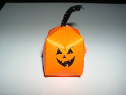 origami halloween pumpkin folding instructions how to make a