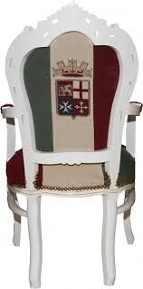 italienische esszimmer casa padrino barock esszimmer stuhl mit armlehnen italien weiß