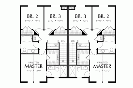 Typical Brownstone Floor Plan Craftsman Duplex With Built In Amenities Hwbdo67328 Traditional