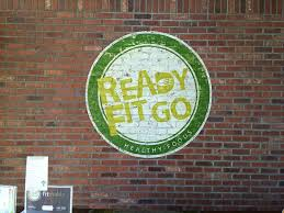 signage and logos on brick and rough surfaces g go decorative commercial business mural logo rfg brick
