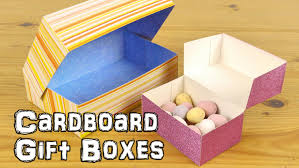 diy cardboard gift boxes youtube