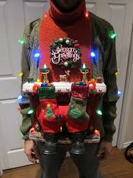 Ugly Christmas Ornament Ugly Christmas Sweater Diy Stuck In The Chimney 2012 4 Steps