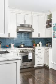 blue kitchen backsplash white cabinets 25 beautiful kitchens with backsplashes kitchen