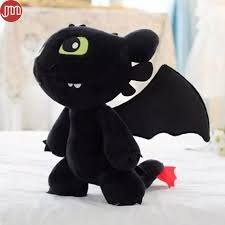 2017 toothless dragon plush doll train dragon toy