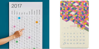 Wall Calendar Organizer Creative Calendars And Planners For 2017 Cool Hunting