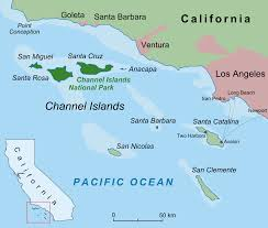 National Parks Us Map The Channel Islands Santa Catalina Island And Channel Islands
