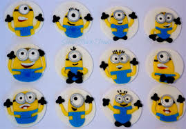 minions cake toppers 12 edible minion cupcake decorations sweet party treats madeit