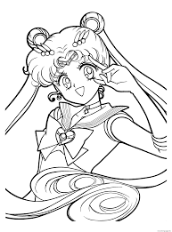 sailormoon anime s to print 5f67 coloring pages printable