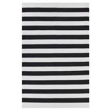 Modern Stripe Rug Black And White Striped Dhurrie Rug At Cost Plus World Market