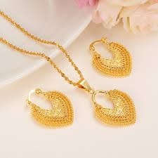 pendant necklace india images Dubai india gold women wedding gfirls necklace earrings pendant jpg