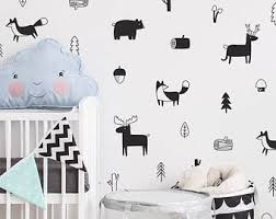 Cheap Wall Decals For Nursery Woodland Wall Decal Etsy