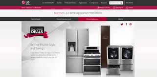 appliances black friday lg black friday promotions invite holiday shoppers to save big on