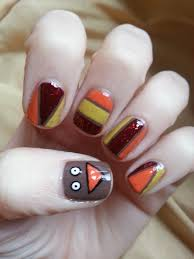 thanksgiving fingernail designs nail art magnificent turkey nail art image ideas feather