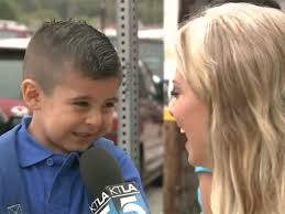 4 year old boy gives tearful back to interview