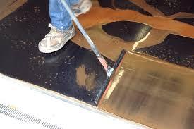 metallic epoxy application process for your new floor