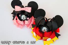 minnie mouse hair bow mommycraftsalot mickey minnie mouse inspired hair bow tutorial