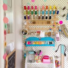 Cool Pegboard Ideas Mousehouse Craft Room Pegboard Diy