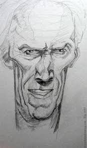 day 271 u2013 clint eastwood caricature every day a drawing