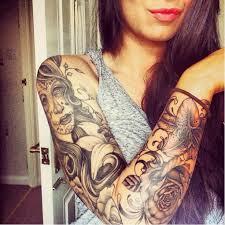 25 trending skull sleeve ideas on half sleeve tattoos
